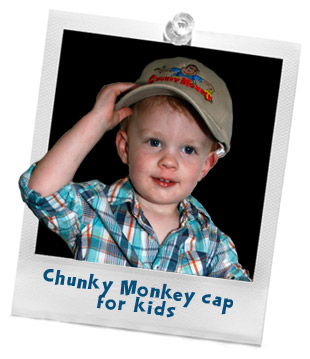 Chunky Monkey cap for kids